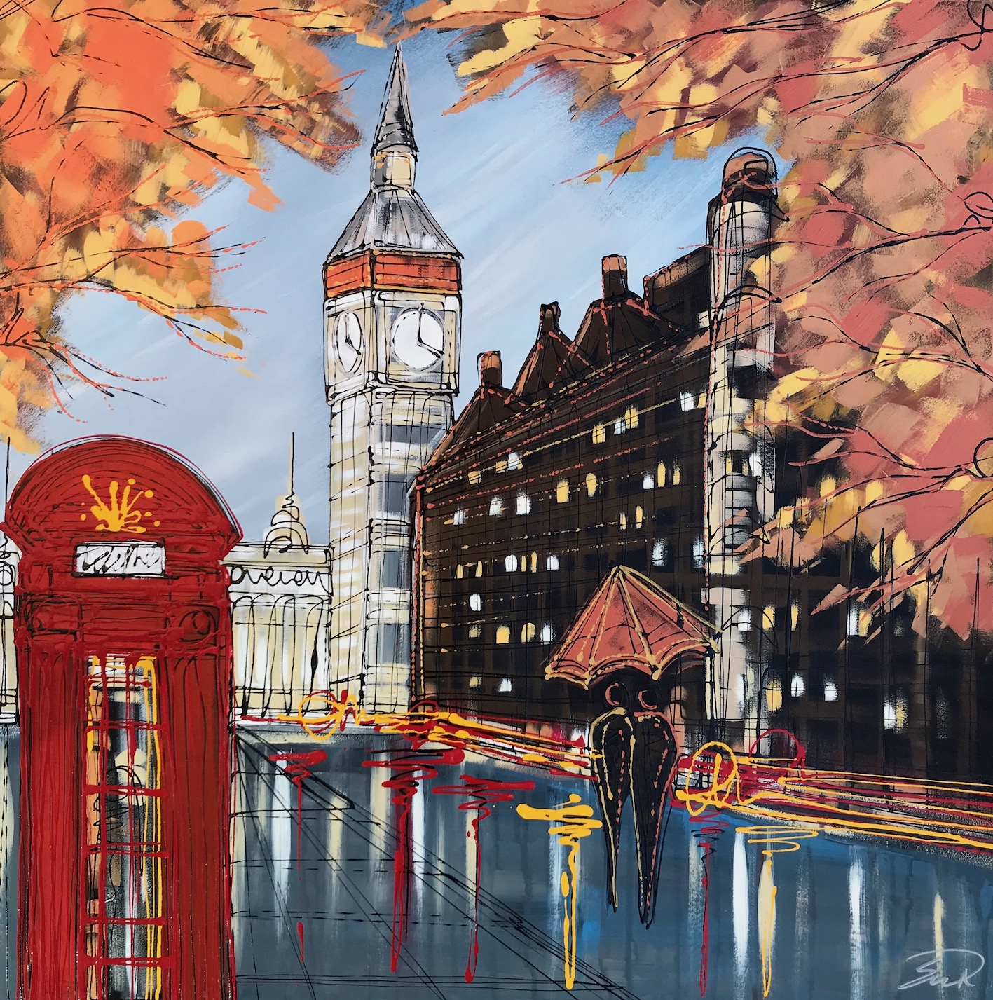 Autumn in London 76x76 Resin