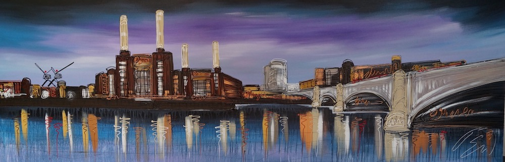 Battersea Blues 24x72