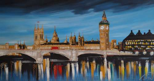 Blue Skies over Westminster 37x60