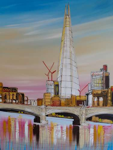 Bright Skies around The Shard 30x40