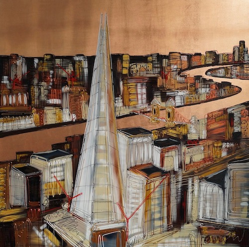 Copper Over The Shard 40x40