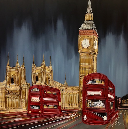 Crossing Westminster Bridge 30x30