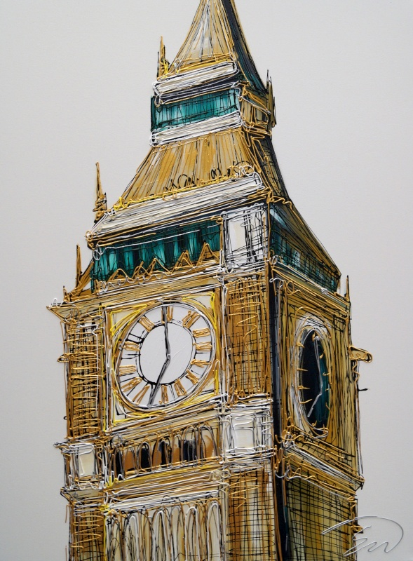 Golden Big Ben 30x40