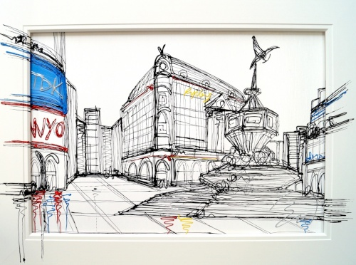 Piccadilly Corner Canvas Board
