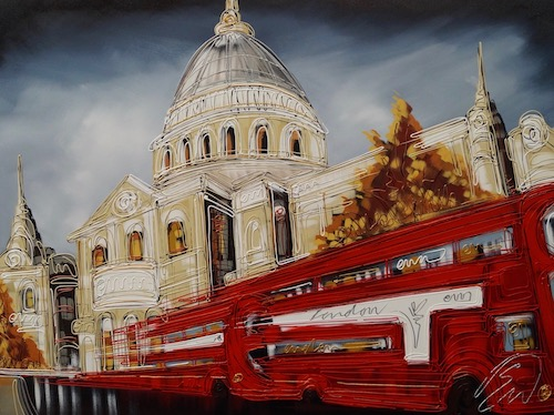 Rush Hour at St Pauls 30x40