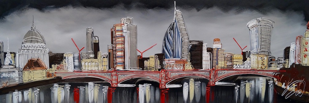 Smokey Skies Over St Pauls  20x60
