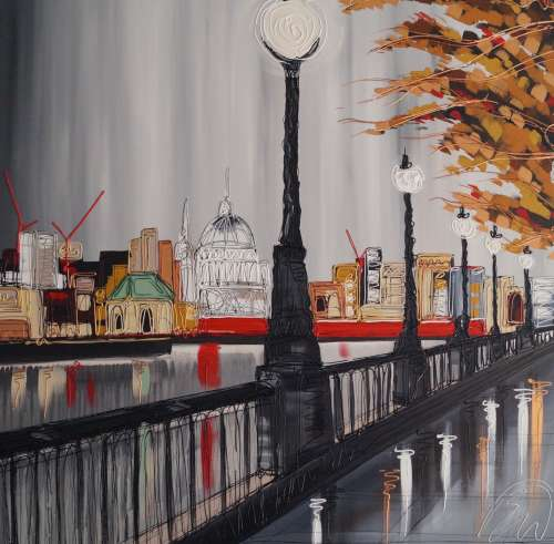 Stroll along the Thames 40x40