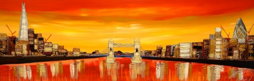 Sunset London 24x72