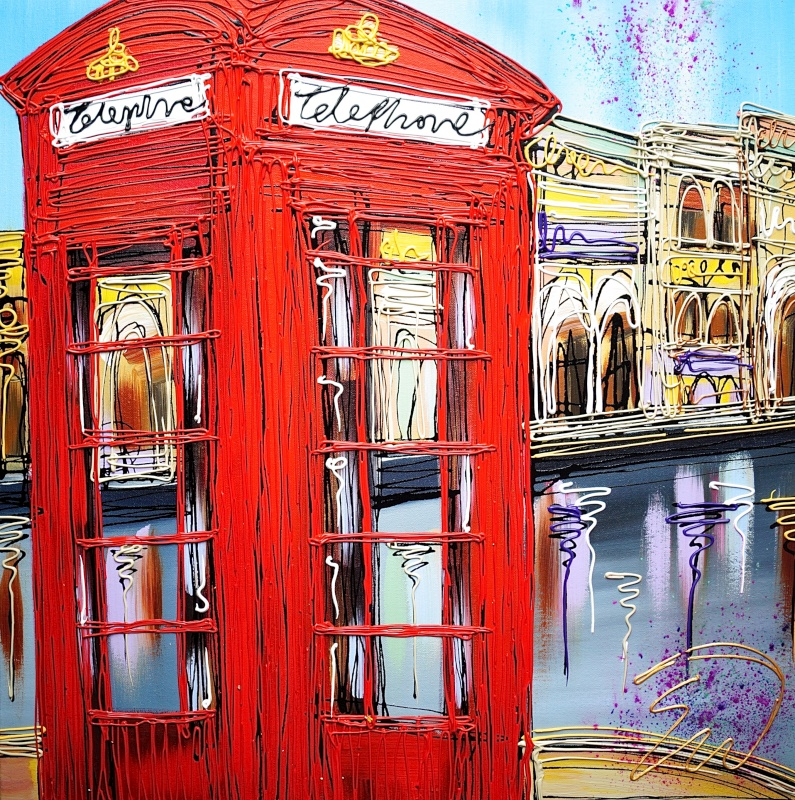 Telephone Home Holi 24x24