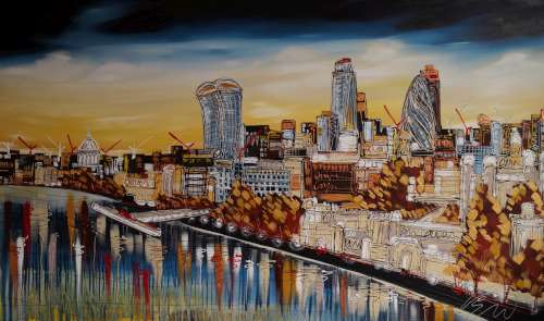 The View From Tower Bridge 36x60