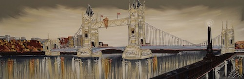 The View of Tower Bridge 24x72