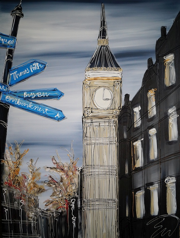 This way to Big Ben 30x40