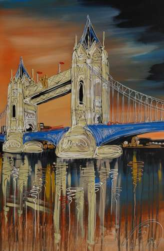 Tower Bridge Reflections 24x36