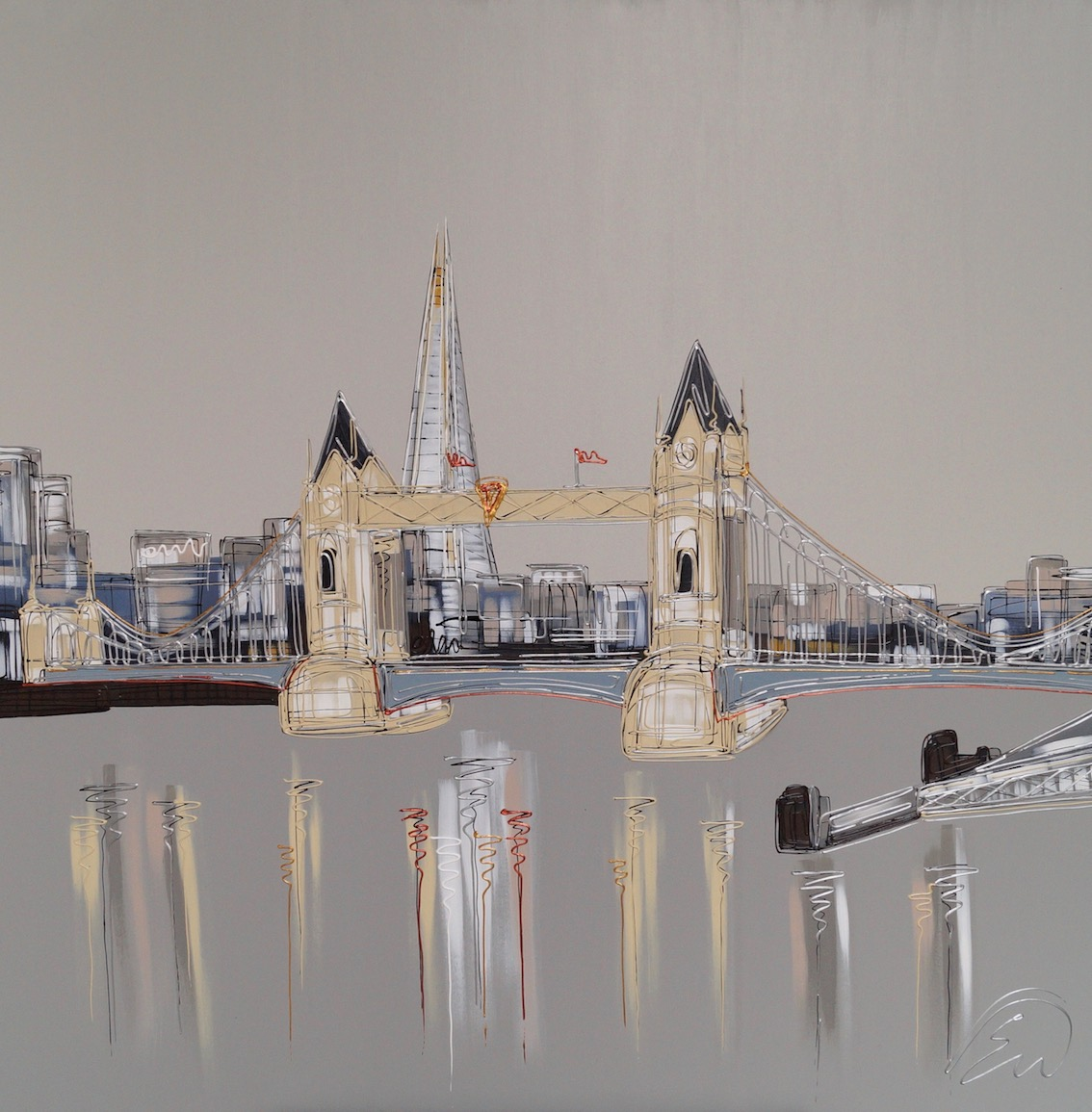 Tranquil London Waters 40x40