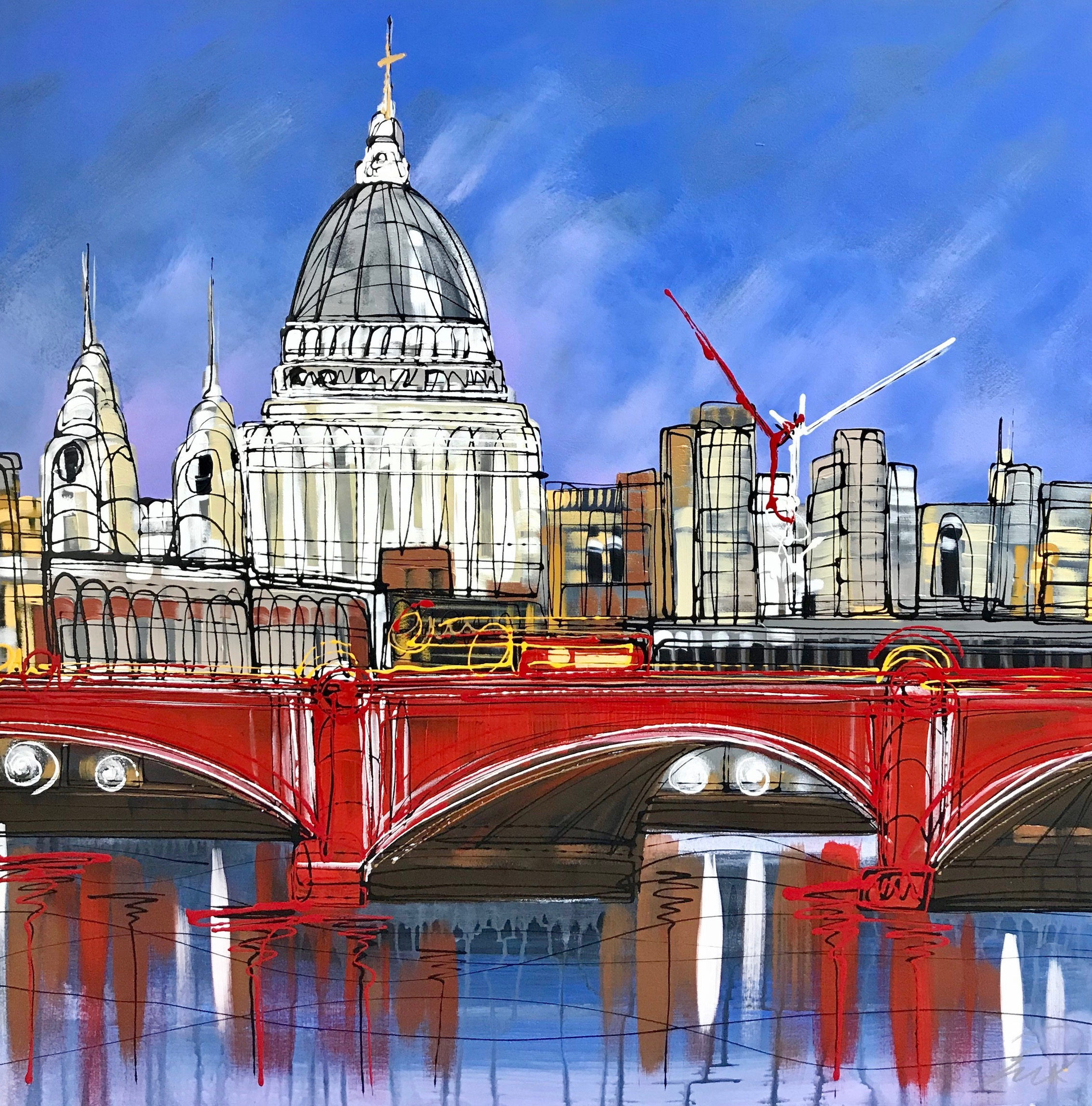 St Pauls midnight dream 76x76 Resin