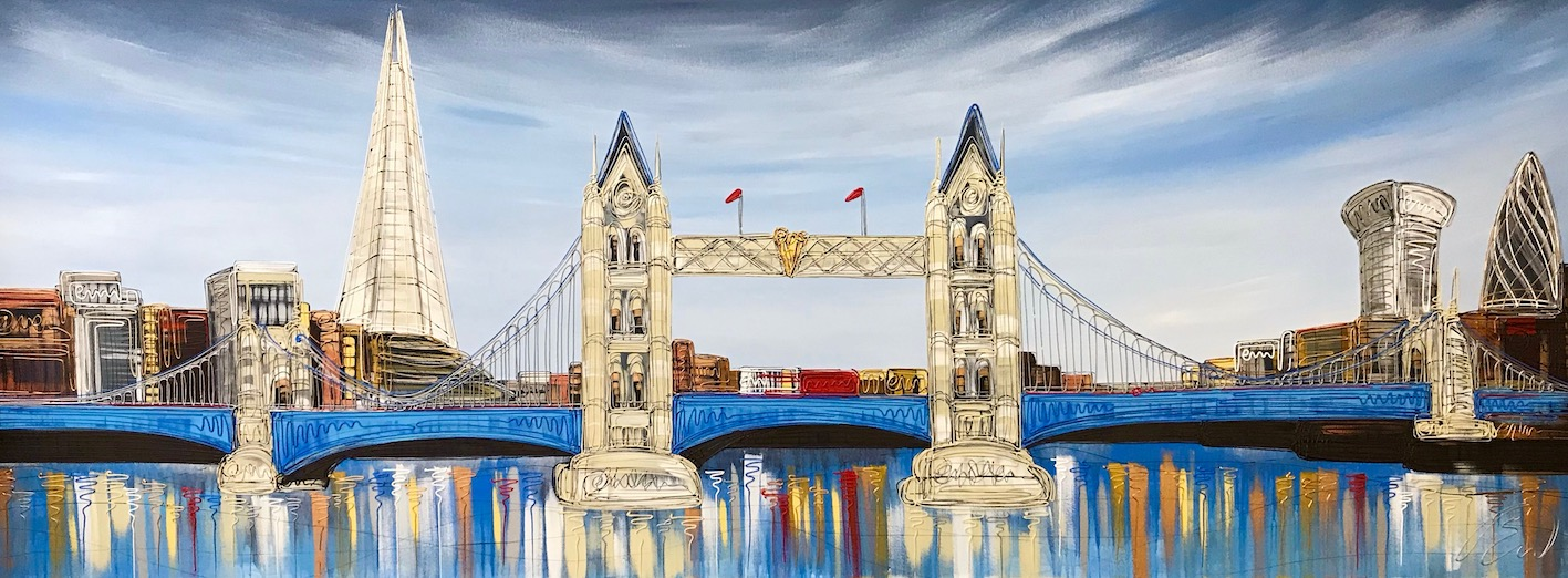 Tower Bridge Glow 36 x 92