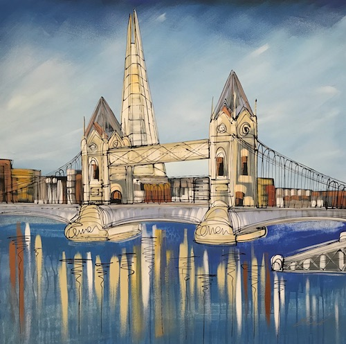 Tower Bridge Blues Resin Series 30x30