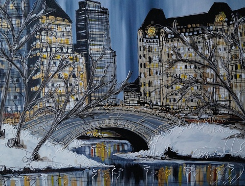 Snow in Central Park 30x40