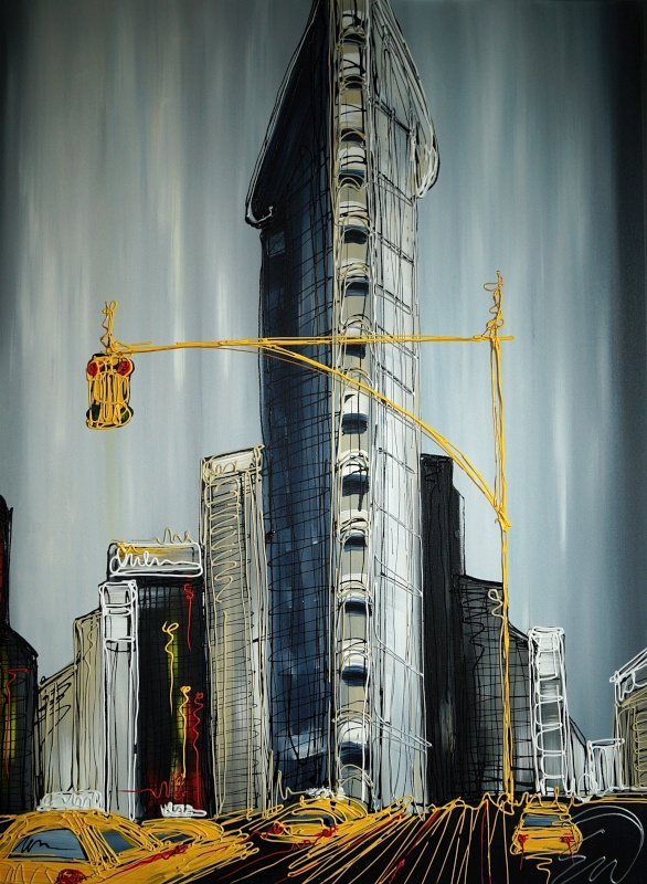The Flat Iron Building 30x40