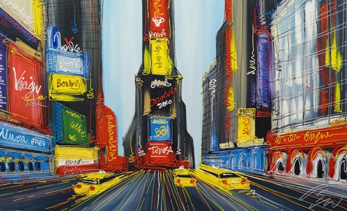 Time Square View 36x60