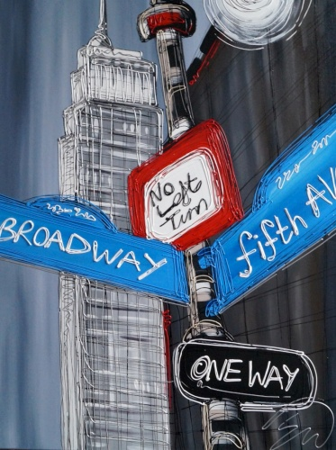 Which Way to Broadway 30x40