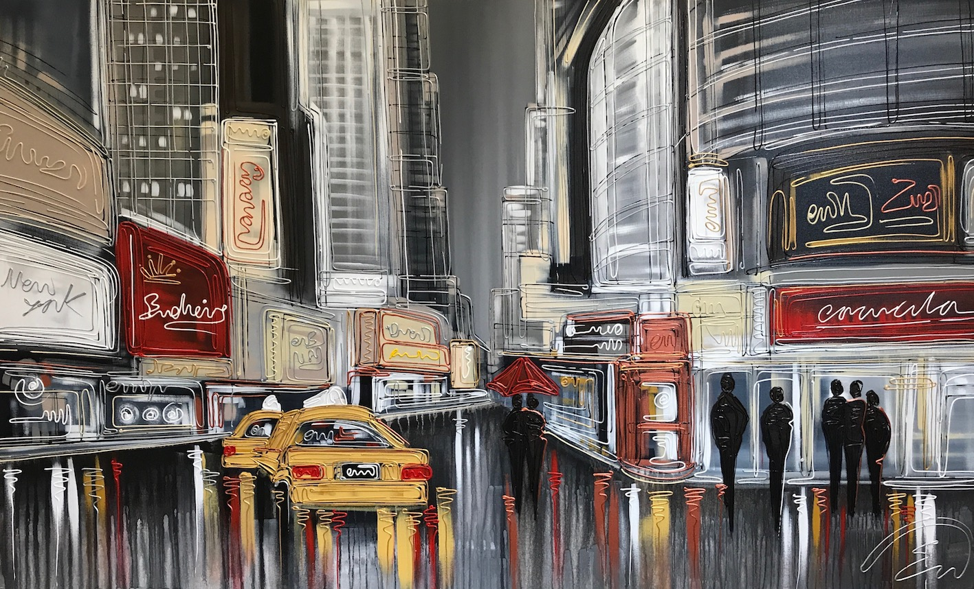 Walking the Streets of NYC 36x60