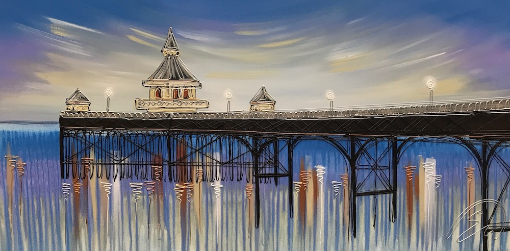 Breaking Dawn at Clevedon Pier 24x48