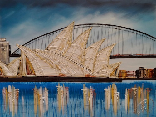 Blue Skies Over Sydney Harbour 30x40