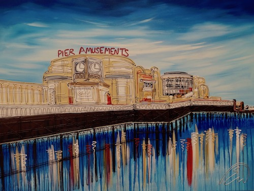 Clear Skies Over Worthing Pier  30x40