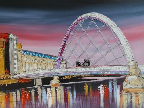Crossing the River Clyde 30x40