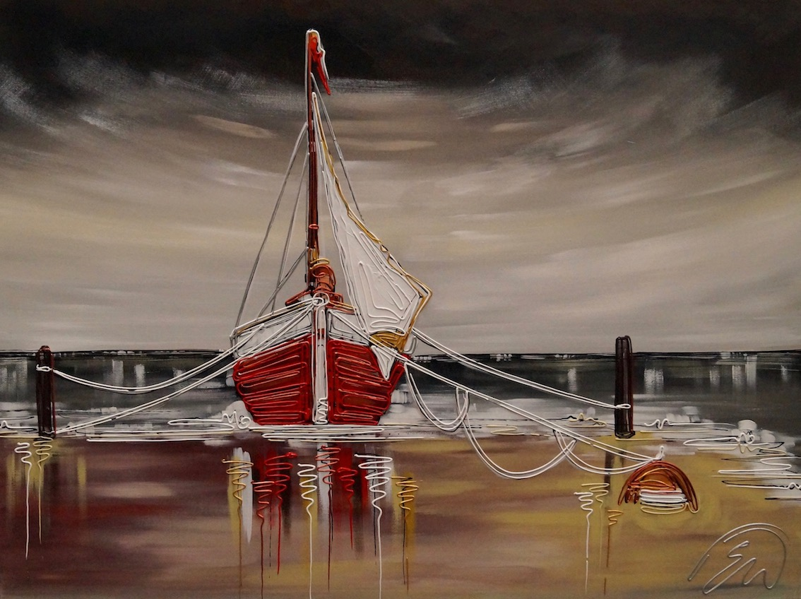 Our Little Red Boat 30x40
