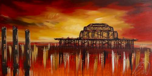 Red Waters In Brighton 24x48