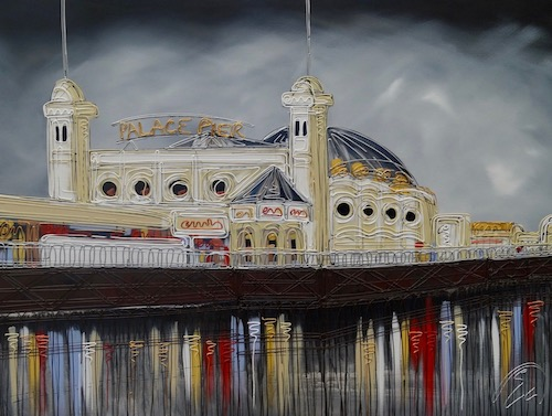 Stormy Skies Over Palace Pier 30x40