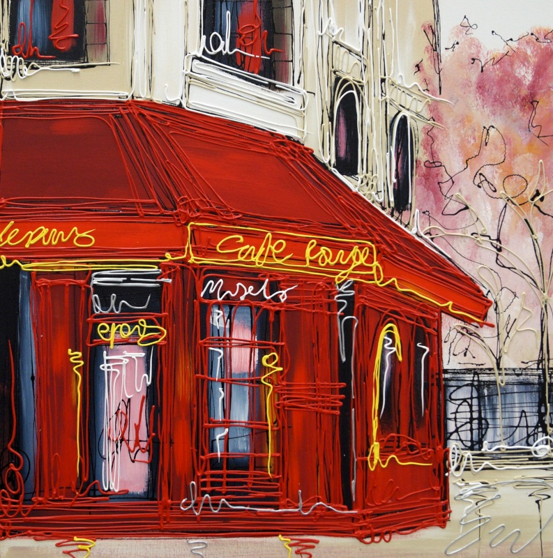 Cafe Rouge 24x24