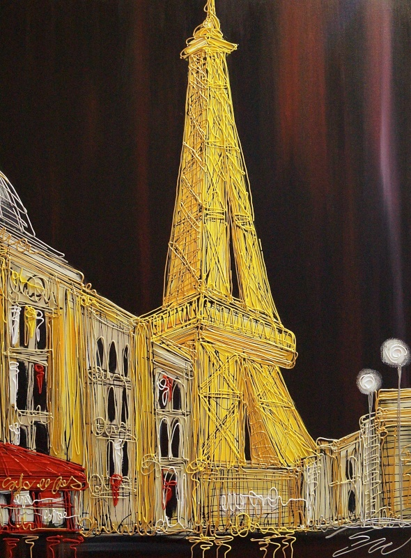 The Eiffel Tower Cafe Corner 30x40